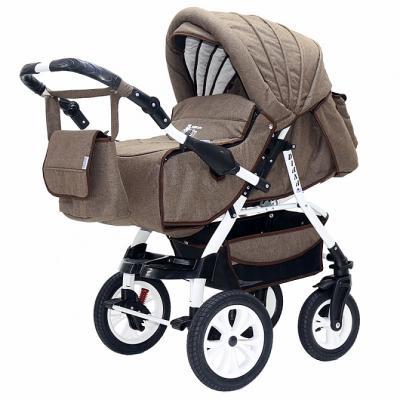 Коляска прогулочная Teddy BartPlast Diana Prime PKLO (05/коричневый лен) коляска прогулочная teddy bartplast diana 2016 pklo dd16 серый
