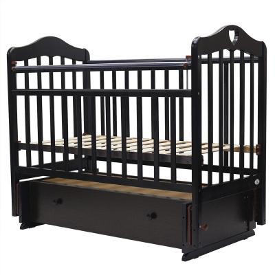 Купить Кроватка с маятником Топотушки Оливия-7 (арт. 36/с сердечком/венге), береза, Кроватки с маятником