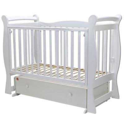 Купить Кроватка с маятником Топотушки Валенсия-6 (арт. 38/белый), береза, Кроватки с маятником