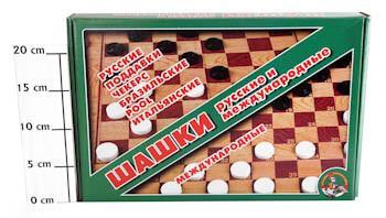 Купить Шашки большие, Десятое королевство, 36x3x24 см, Лото, домино, шашки и шахматы