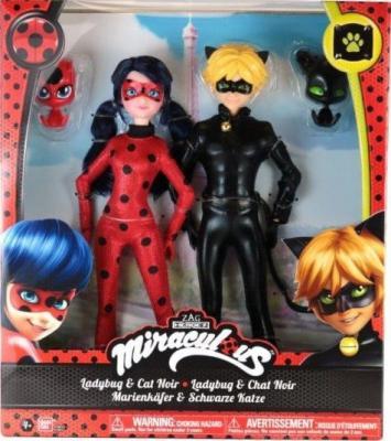 Купить Кукла BANDAI Леди Баг и Супер Кот 26 см — 39810, пластик, Классические куклы и пупсы