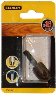Зенкер STANLEY STA61502-XJ Ф16мм по дереву хвостовик 1/4 зенкер kwb 7043 10 по дереву и цветным металлам d12мм хвостовик 8мм