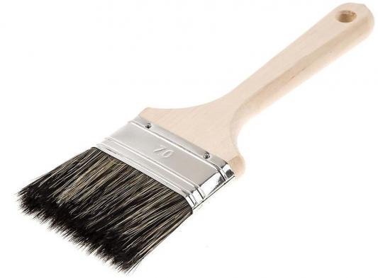 Кисть для антисептиков Hammer Flex 237-014 70х14 (дерев. ручка) кисть для эмалей hammer flex 237 021 50 14 дерев ручка проф