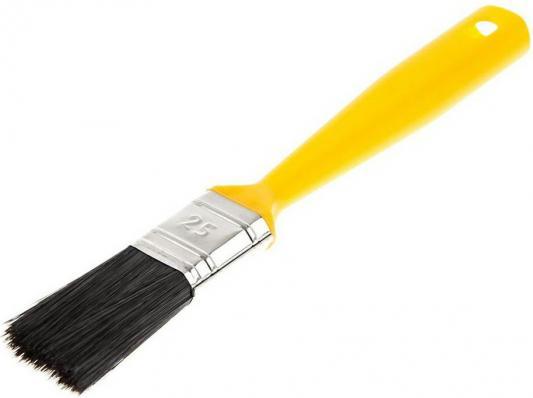 Кисть для эмалей Hammer Flex 237-016 25х12 (пласт. ручка) кисть для эмалей hammer flex 237 021 50 14 дерев ручка проф