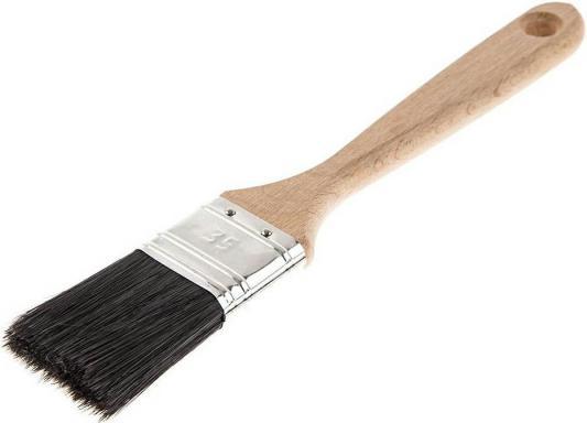 Кисть для эмалей Hammer Flex 237-020 35*12 (дерев.ручка) ПРОФ. кисть для эмалей hammer flex 237 021 50 14 дерев ручка проф