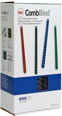 Пружина пластиковая 22 мм, А4, 195 листов, кольцо, черная, 100 шт/уп переплетчик gbc combbind 100 a4 перфорирует 9 листов сшивает 160 листов пластиковые пружины 6 19мм 4
