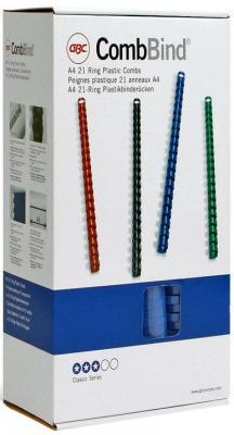 Пружина пластиковая 12 мм, А4, 95 листов, кольцо, синяя, 100 шт/уп переплетчик gbc combbind 100 a4 перфорирует 9 листов сшивает 160 листов пластиковые пружины 6 19мм 4