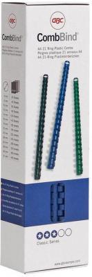 Фото - Пружина пластиковая 6 мм, А4, 25 листов, кольцо, синяя, 100 шт/уп набор стаканов 360 мл 6 шт rcr набор стаканов 360 мл 6 шт