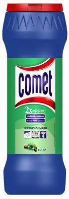 Средство чистящее COMET СОСНА, универсальное, порошок, 475 г универсальное чистящее средство лайма санитарный лимон порошок 400 г 604655