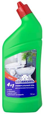 Картинка для Средство чистящее ХОЗЯЙКИНЪ PROFESSIONAL ГЕЛЬ универсальный,  для сантехники,  4 в 1, 750 мл, Хвоя