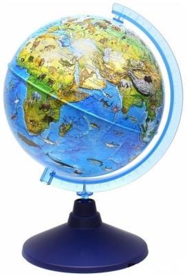 Купить Глобус Зоогеографический (Детский), D-210 мм, с подсветкой от батареек, Globen, унисекс, Игровые наборы Юный мастер