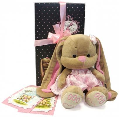 Мягкая игрушка зайка в розовом платье Jack Lin JL-002-25-КСО 25 см стоимость