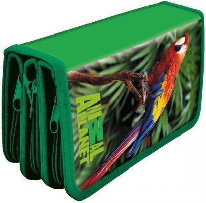 Купить Пенал на трех молниях Action! ANIMAL PLANET AP-PC03-03, ламинированный картон, универсальные, Пеналы и папки