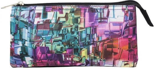 Купить Пенал-косметичка, 3 отд., 2 молнии, без наполнения, размер 21х11 см, Action!, текстиль, для девочки, Пеналы и папки