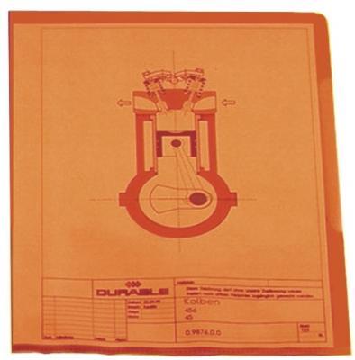 Папка-уголок DURABLE, толщина пластика 0.15 мм, выемка для пальца, красная, цена за 1 шт