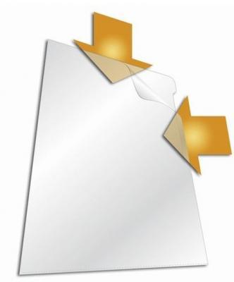 Папка-уголок DURABLE, толщина пластика 0.15 мм, выемка для пальца, прозрачная, цена за 1 шт