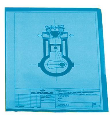 Папка-уголок DURABLE, толщина пластика 0.15 мм, выемка для пальца, синяя, цена за 1 шт
