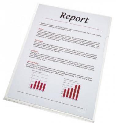 Папка- уголок ESSELTE 150 мкм, глянцевые прозрачные, цена за штуку папка уголок leitz с расширением на 20см 200 мк прозрачная цена за штуку 40563003