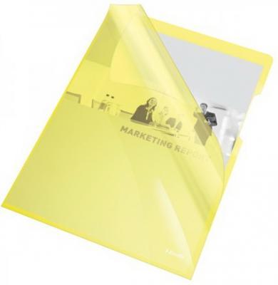 Папка- уголок ESSELTE 150 мкм, глянцевые желтые, цена за штуку папка уголок leitz с расширением на 20см 200 мк прозрачная цена за штуку 40563003