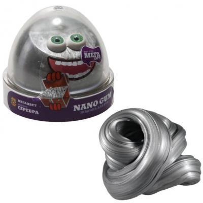 Купить Жвачка для рук жвачка для рук NanoGum Жвачка для рук эффект серебра полимер серый, Интерактивные мягкие игрушки