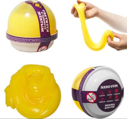 Купить Жвачка для рук жвачка для рук NanoGum Жвачка для рук полимер желтый, Интерактивные мягкие игрушки