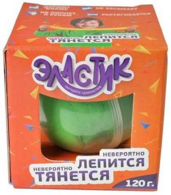 Пластилин тянущийся Эластик, Зеленый, 140г