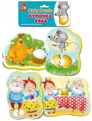Пазл Vladi toys Курочка ряба VT1106-61 ролевые игры vladi toys магнитный театр курочка ряба