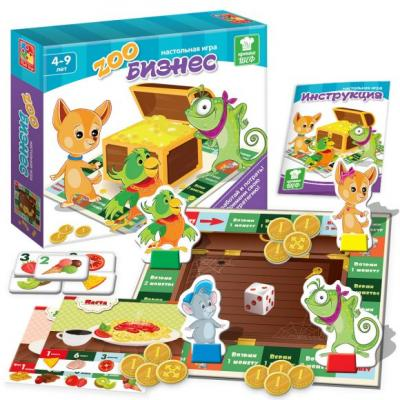 Настольная игра Vladi toys развивающая Зообизнес VT2309-10 настольная игра vladi toys развивающая транспорт