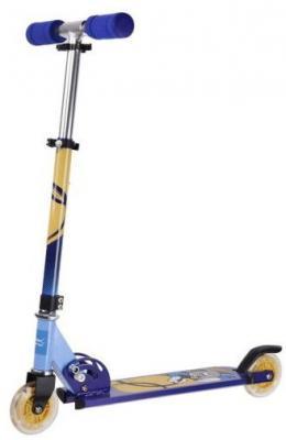 Самокат X-Match Cool Cat 100 мм сине-желтый 641097 цена и фото