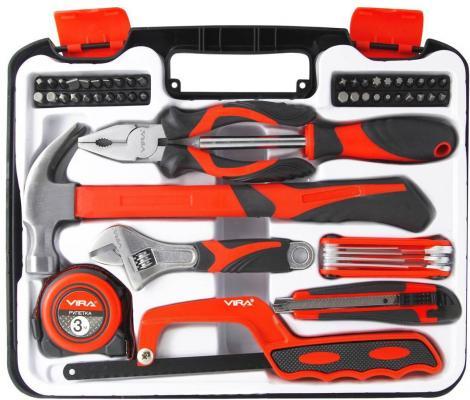 Набор инструментов VIRA 305085 слесарно-монтажного 54предмета набор инструментов сибин 27765 h56 слесарно монтажного инструмента 56предметов