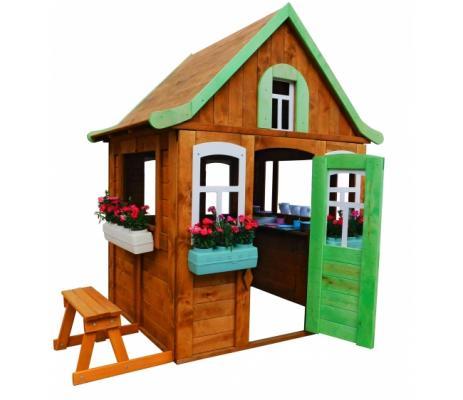 Игровой домик Можга Детский домик Цветочный c кухней и цветочницами (P920-2) палатки домики babydomiki игровой домик english shcool