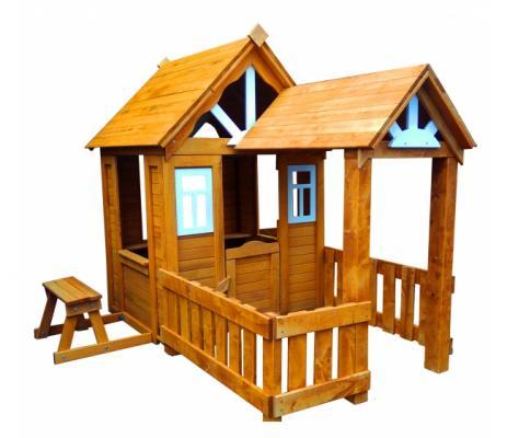 Купить Игровой домик Можга Детский домик Солнечный с верандой (Р910-Р931), коричневый, Детские домики - палатки