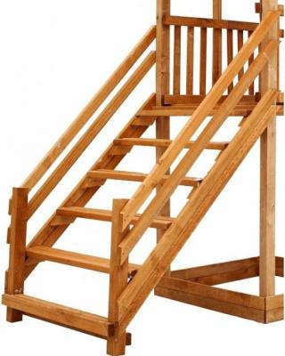 Купить Лестница Можга Лестница широкая зимняя (P921), коричневый, Горки и песочницы для детей