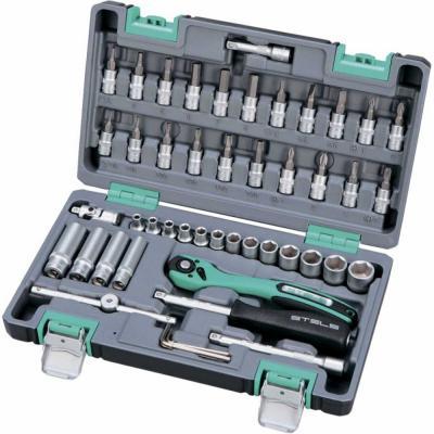 Набор инструментов STELS 14099 1/4 cr-v s2 усиленный кейс 47предм.