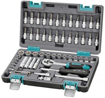 Набор инструментов STELS 14101 1/4 CrV пластиковый кейс 57 предм.