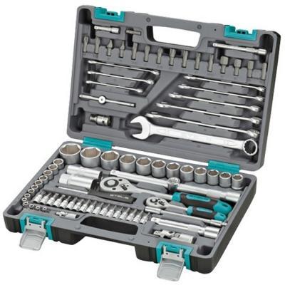 Набор инструментов STELS 14105 1/2 1/4 CrV пластиковый кейс 82 предм.
