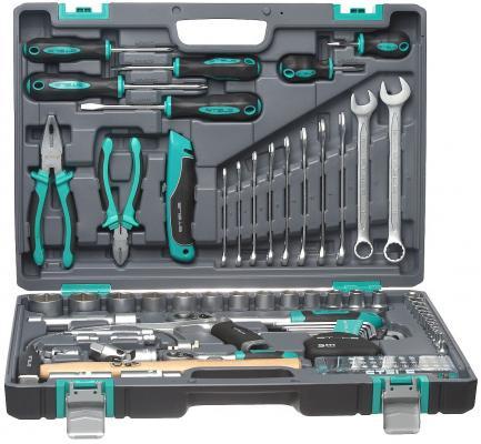 Набор инструментов STELS 14111 1/2 1/4 CrV пластиковый кейс 98 предм.