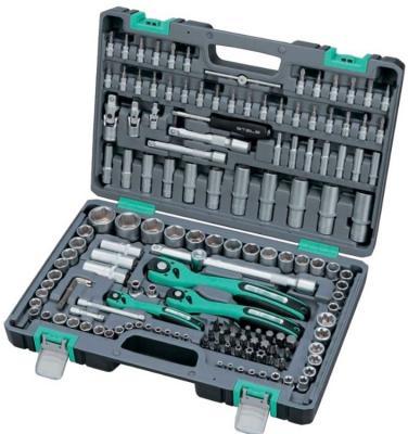 Набор инструментов STELS 14114 1/4 3/8 1/2 cr-v s2 усиленный кейс 151предм. exploit 692 cr v slotted screwdriver black 1 8 x 40mm