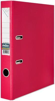 Папка-регистратор 50 мм, PVC двухсторонняя, красная, с металлической окантовкой