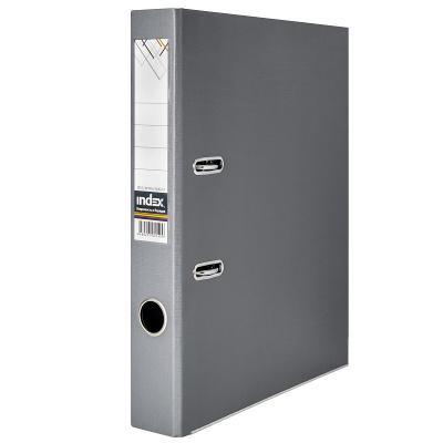 Папка-регистратор 50 мм, PVC двухсторонняя, серая, с металлической окантовкой