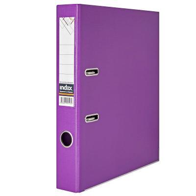 Папка-регистратор 50 мм, PVC двухсторонняя, фиолетовая, с металлической окантовкой