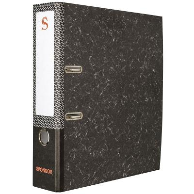 Папка-регистратор SPONSOR, 80 мм, черный мрамор, эконом SPR8/24E citizen ca0641 24e