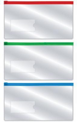 Купить Папка на молнии 233*124мм, с карманом 35*75мм, 0, 18мм, Index, Пеналы и папки