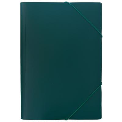 Папка на резинках SATIN, ф.A4, темно-зеленая, 0,45 мм папка на 60 карм а4 proff 0 75 мм зеленая db60ab 03
