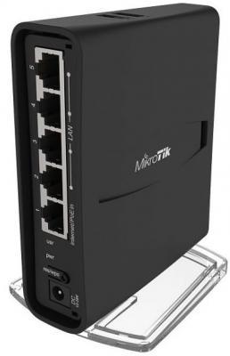 Беспроводной маршрутизатор MikroTik hAP AC2 802.11abgnac 2.4 ГГц 5 ГГц 5xLAN USB черный RBD52G-5HacD2HnD-TC