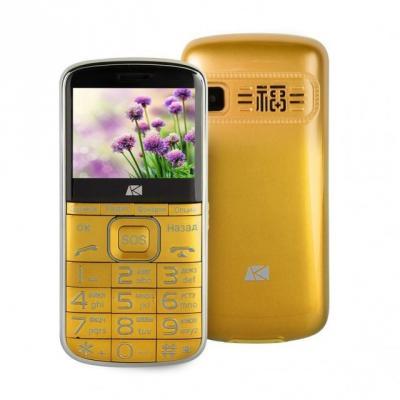 Мобильный телефон ARK Power F1 золотистый цена и фото