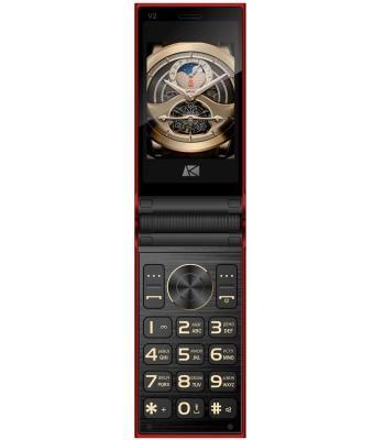 Мобильный телефон ARK Benefit V2 красный мобильный телефон ark benefit v1 серый 2 4 64 мб