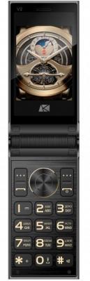 Мобильный телефон ARK Benefit V2 черный раскладной 2Sim 2.8 240x320 0.08Mpix BT GSM900/1800 GSM1900 MP3 FM microSD мобильный телефон ark benefit u281 белый 2 8 32 мб 3 симкарты