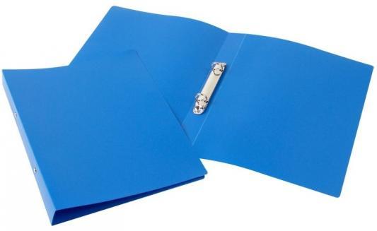 Папка-файл на 2 кольцах, голубая, PVC, 35 мм, диаметр 20мм