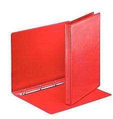 Папка-файл на 4 кольцах, красная, PVC, 50 мм, диаметр 35мм.